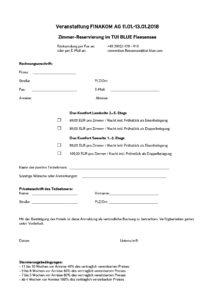 Reservierungsformular - Finakom - TUI BLUE
